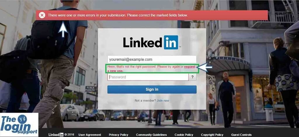 linkedin password reset