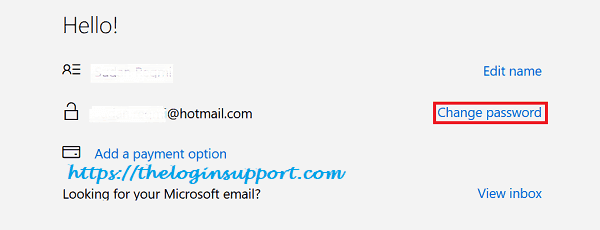 Change Hotmail Password