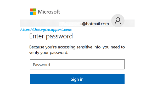 Hotmail Login Password