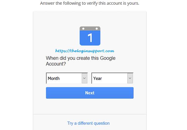 Gmail Reset Password