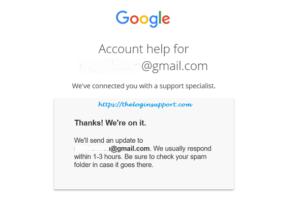 Google Account Password Reset