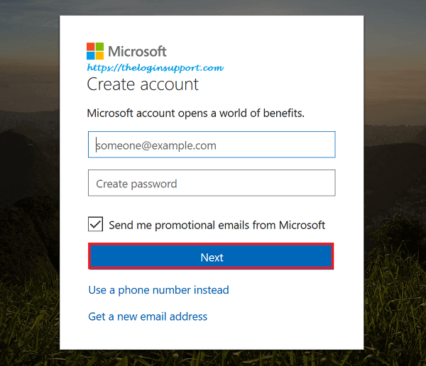 Hotmail Account Create