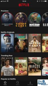 Netflix app for iOS
