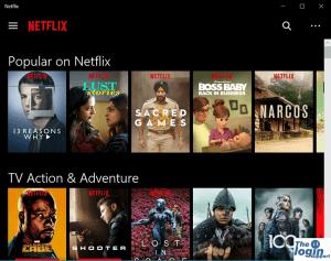 Netflix Windows home