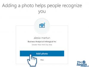 Add profile picture in LinkedIn