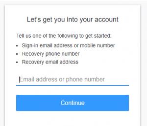 AOL password reset